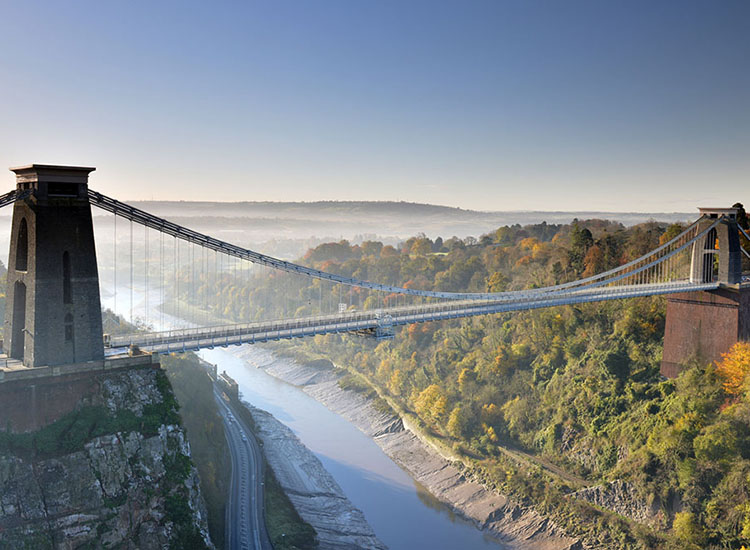Clift Suspension Bridge à Bristol en Angleterre